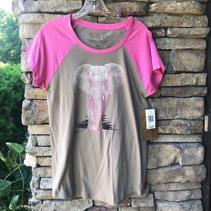 NWT Threads 4 Thought Elephant Pink And Gray SZ XS